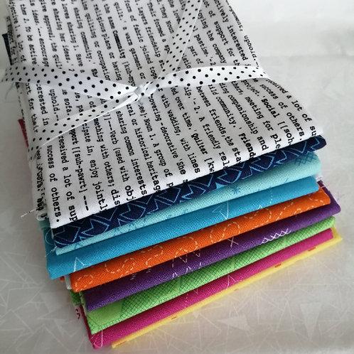 Great British Quilters Fabric - fat quarter bundle 9 brights