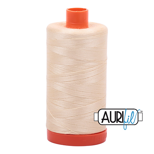 Aurifil  50wt Thread 1300m - Butter 2123