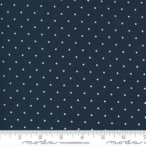 Sunday Stroll by Bonnie and Camille for Moda Fabrics - 2615 White spot on Navy