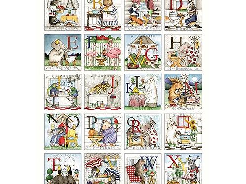 Hungry Animal Alphabet Riley Blake - Alphabet Panel