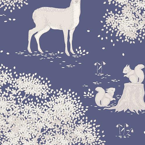 Tilda Woodland Fabrics - Blue Woodland Scene 284