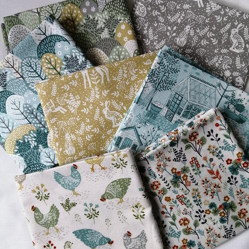 Clara's Garden Makower UK Fabrics - 10 fat quarters bundle patchwork