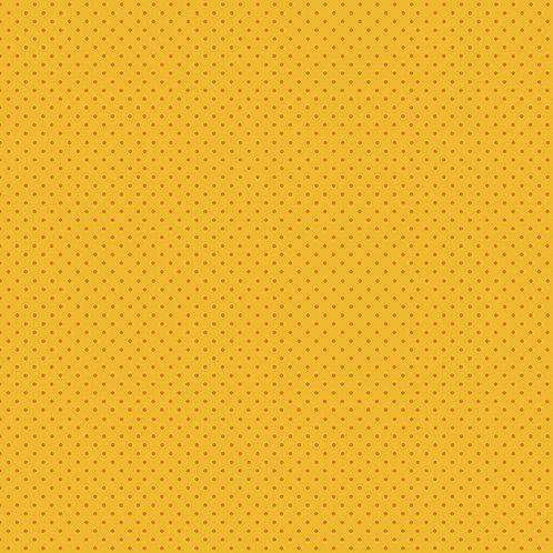Makower Spot On Fabric - Orange Spot on Yellow