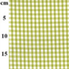 Gingham Poly-Cotton Fabric - Lime
