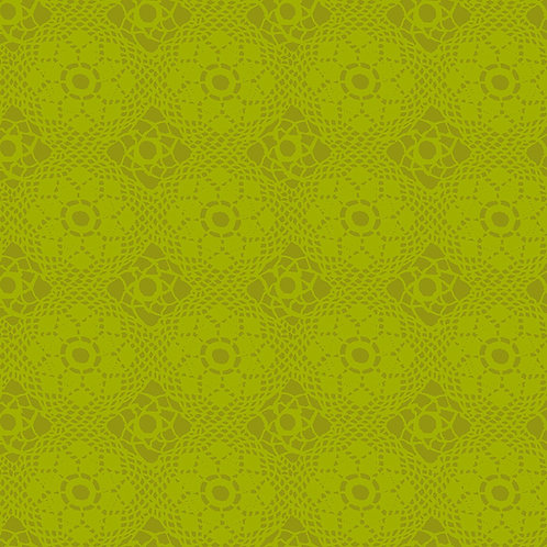Alison Glass Fabric Sunprints 2021 - Green Crochet Tonal
