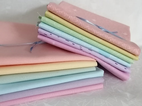 Great British Quilters Fabric - fat quarter bundle 6 pastels