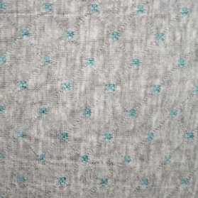 John Louden fabrics - Quilted Jersey - Grey/teal