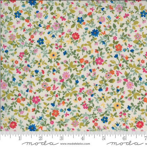Lulu by Chez Moi for Moda fabrics - 8416 Linen small floral