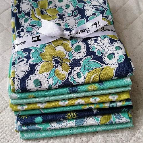 Flour Garden for Moda Fabrics - fat quarter patchwork bundle dark optio