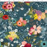 Windham Fabrics - Floral on Blue