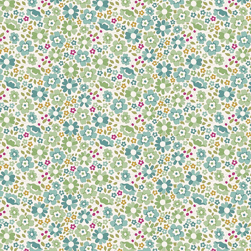 Tilda Woodland Fabrics -  Clara Teal 299