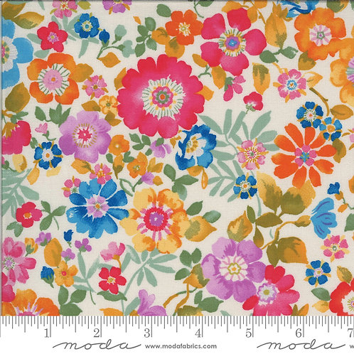 Lulu by Chez Moi for Moda fabrics - 8116 Linen large bright floral