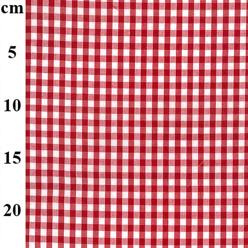 Gingham Poly-Cotton Fabric - Red