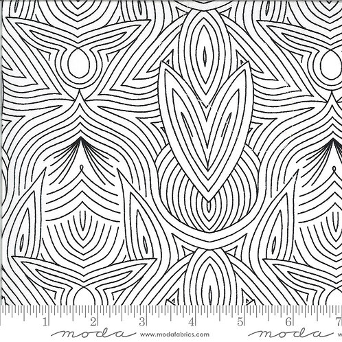 Dwell in Possibility by Gingiber for Moda Fabrics  48316-19 black and white