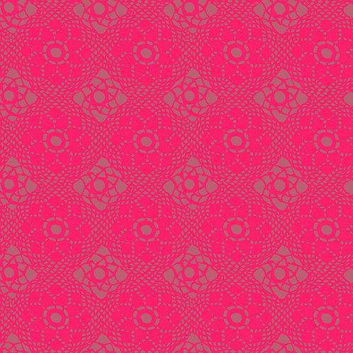 Alison Glass Fabric  2021 - Pink Crochet Tonal