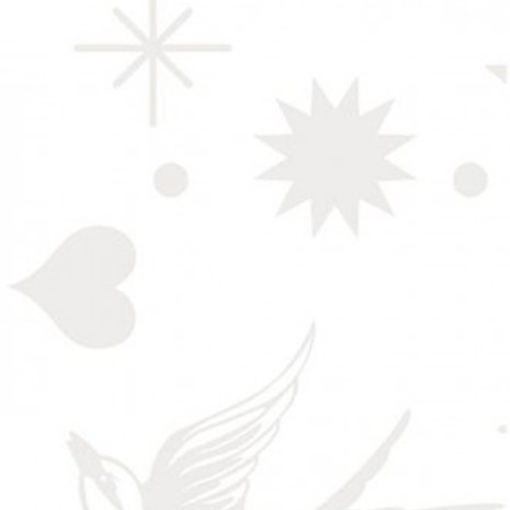 Linework Tula Pink  Fairy Flakes White
