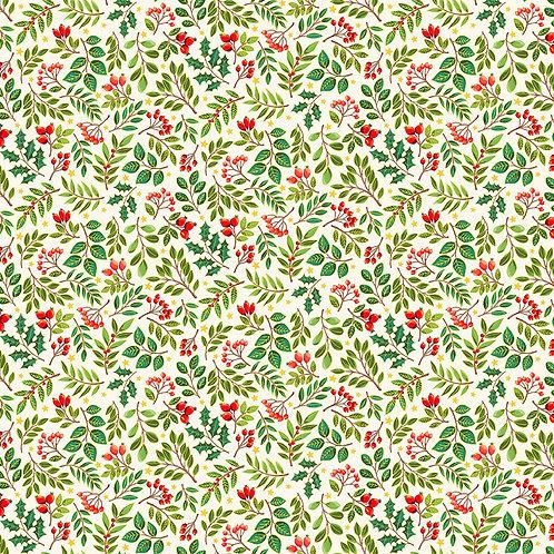 Classic Foliage Christmas by Makower UK Fabrics - Scatter 2375Q