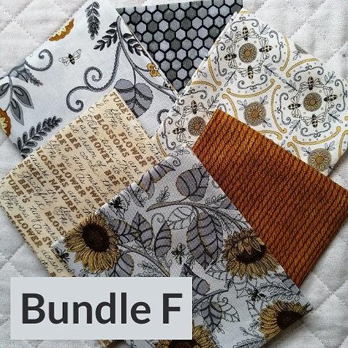 Bee Grateful by Deb Strain for Moda Fabrics - fat quarter bundle F