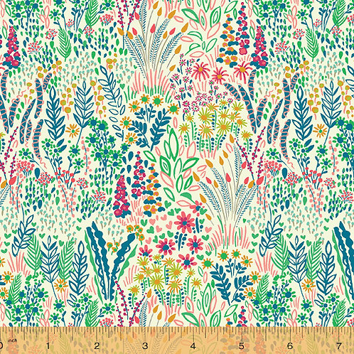 Solstice by Sally Kelly for Windham fabric - Multi - floral fabric