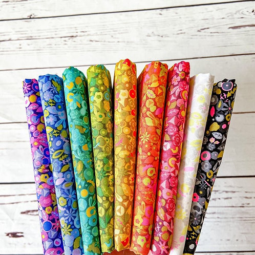 Alison Glass Fabric Sunprints 2021 - Tuesday Fat Quarter Bundle Andover Fabrics rainbow