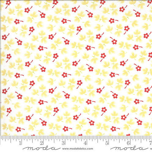 Figs & Shirtings - Moda Fabrics - Churned Butter red floral print