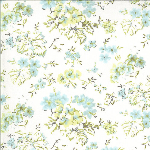 Dover large white floral fabric