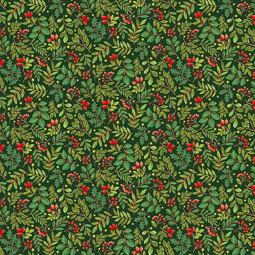 Classic Foliage Christmas by Makower UK Fabrics - Scatter 2375G