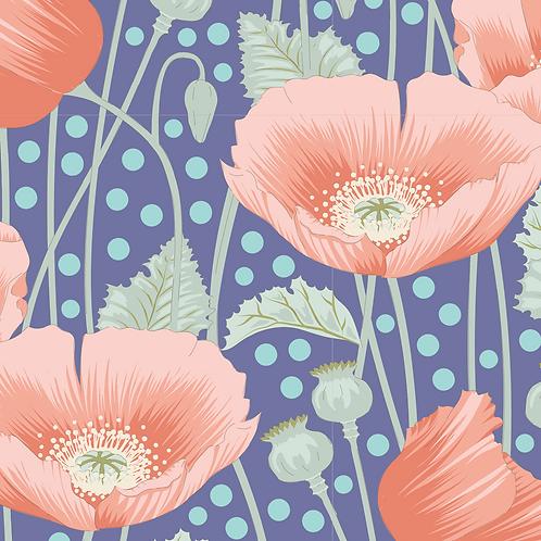 Tilda Garden Life - Poppies Blue 319 patchwork quilting