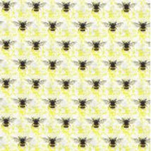 Nutex Fabric - Honey Bee on Yellow