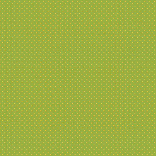 Makower Spot On Fabric - Yellow on Green