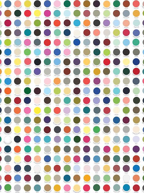 My Favourite Colour is Moda - Moda Fabrics - Multi Spot Bella Solids patchwork quilt