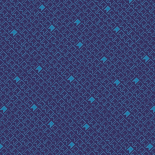 Great British Quilters Fabric - Midnight blue