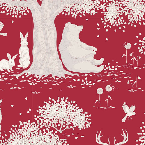 Tilda Woodland Fabrics - Carmine 293
