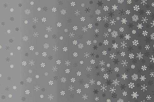 Scandi by Makower UK Fabrics - Ombre Snowflake Grey