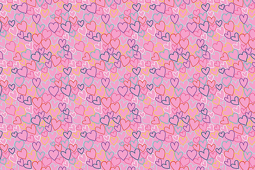 Daydreams Hearts Makower UK Pink