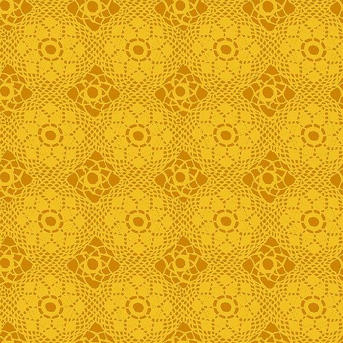 Alison Glass  Sunprints Crochet Yellow fabric