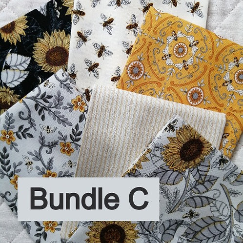 Bee Grateful by Deb Strain for Moda Fabrics - fat quarter bundle C