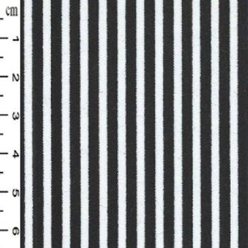 Rose & Hubble Fabric Cotton Poplin - black & white stripe