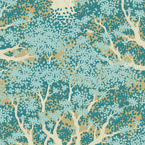 Tilda Woodland Fabrics - Juniper Teal 298