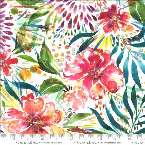 Moody Bloom by Create Joy Studio for Moda Fabrics - White 4111