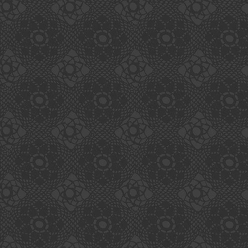 Alison Glass Fabric Sunprints 2021 - Charcoal Crochet Tonal