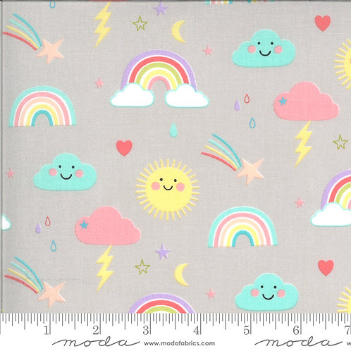 Hello Sunshine by Abi Hall - Moda Fabrics - Rainbows cloudy