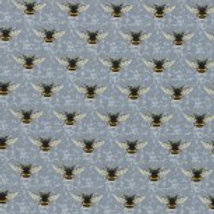 Nutex Fabric - Honeybee on Grey