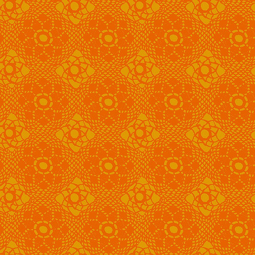 Alison Glass Sunprints 2021 - Orange Crochet Tonal fabric