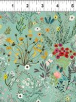 Windham Fabrics - Floral on Green