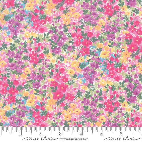 Regent Street Lawn by Moda Fabrics - 3475-12 purple yellow pink floral