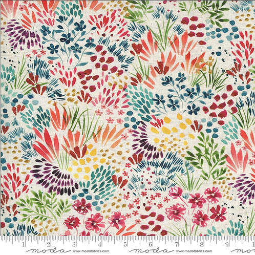 Moody Bloom by Create Joy Studio for Moda Fabrics - Natural 4411 Cotton-Linen