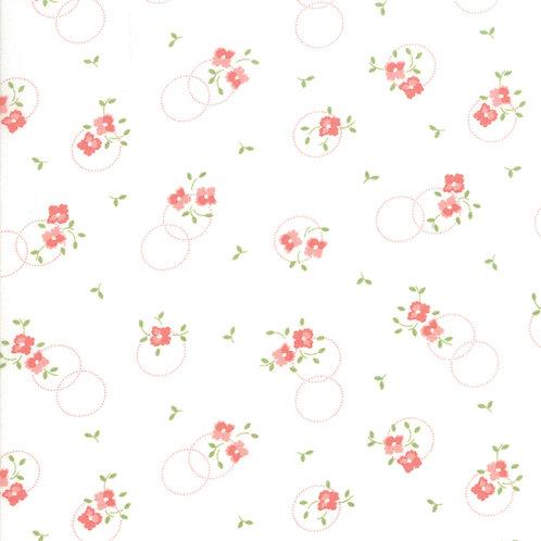 Sugarcreek by Corey Yoder for Moda Fabrics - 72-22 white orange floral