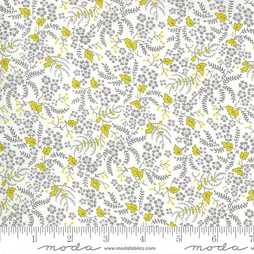 Flowers for Freya by Linzee McCray for Moda fabrics - cloud foggy 3621