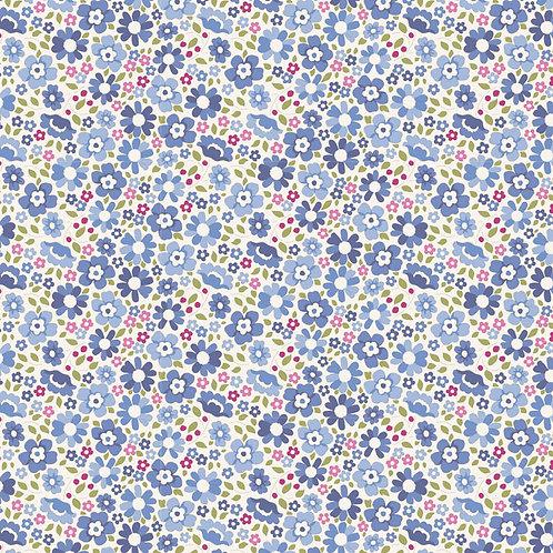 Tilda Woodland Fabrics - Clara Blue 285